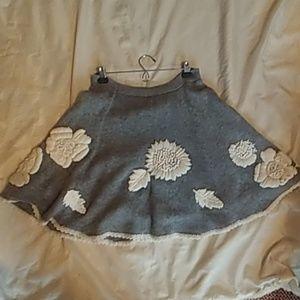 Grey wool charlie and Robin wool knit skirt